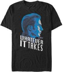 marvel men's avengers endgame captain america profile whatever it takes short sleeve t-shirt