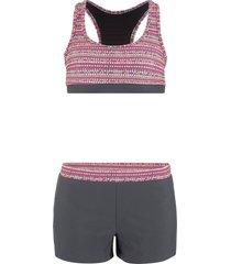 bikini con bustier (grigio) - bpc bonprix collection
