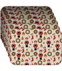 jogo americano - love decor   quebra nozes natalino kit com 6 peã§as - multicolorido - dafiti