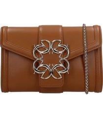 elie saab shoulder bag in leather color leather