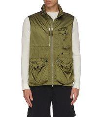 garment dyed cargo pocket vest