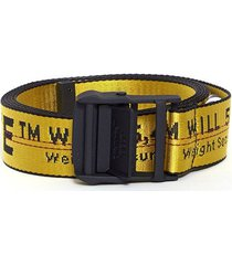 classic ow industrial belt yellow