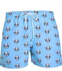 short de praia uzu bulldog azul