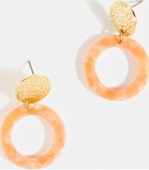 piper double circle drop earrings - pale pink