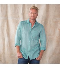 all buttoned up shirt -teal blue