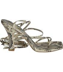 paris texas mirta lace-up thong sandals