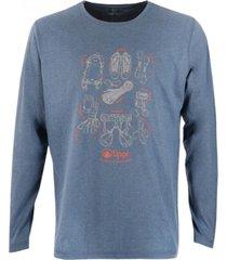 polera insigne cotton t-shirt azul piedra lippi