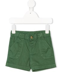 knot classic fitted chino shorts - green