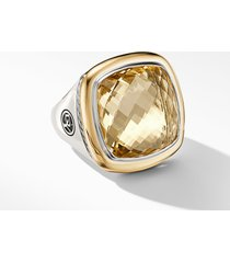 david yurman albion(r) statement ring with 18k gold and champagne citrine or reconstituted turquoise, size 6 at nordstrom
