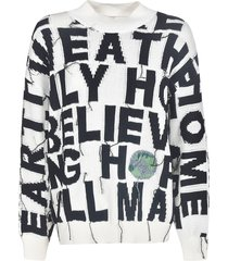 stella mccartney frayed oversized sweatshirt