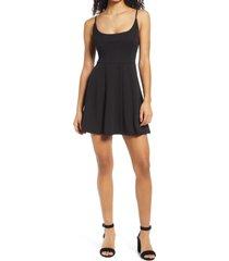 women's jump apparel scoop back sleeveless skater dress, size 11/12 - black