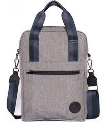 mochila gris claro palermo chaco