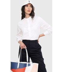 camisa blanco  lacoste
