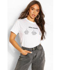 aries horoscoop t-shirt voor stemmingen, wit