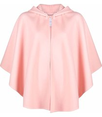 ermanno scervino draped virgin wool cape - pink