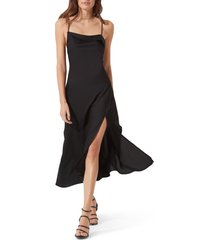 women's astr the label cowl slip midi dress, size small - black