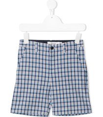 bonpoint plaid-check print shorts - blue