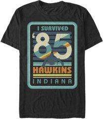 fifth sun men's stranger things i survived hawkins indiana short sleeve t-shirt