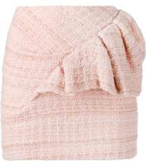 alexandre vauthier tweed short skirt - pink