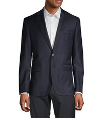 components by jm solid wool blazer - navy - size 44 l