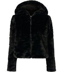 fuskpäls onlchris fur hooded jacket