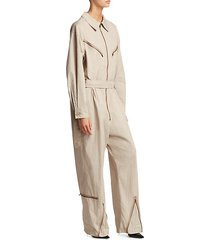 pigalle belted jumpsuit