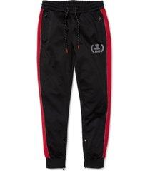 born fly men's big & tall creeper colorblocked track pants