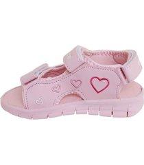 sandalia rosa addnice corazón