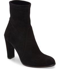 women's stuart weitzman highland bootie, size 8.5 m - black