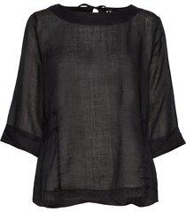 eden blouse lange mouwen zwart masai