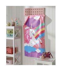 toalha de banho infantil döhler unicórnio rosa
