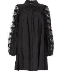 jurk met kant madelyn  zwart