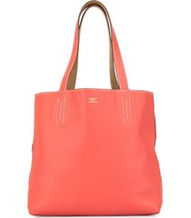 hermès pre-owned double sens 28 reversible tote bag - red