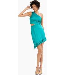 bar iii ruffled asymmetric sheath dress, created for macy's