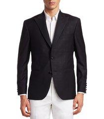 saks fifth avenue men's collection subtle shimmer dinner jacket - black - size 44 l