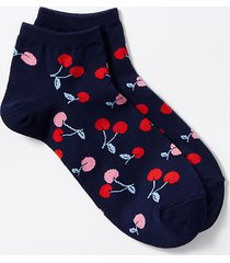 loft cherry ankle socks