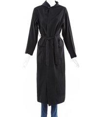bottega veneta hooded belted duster jacket