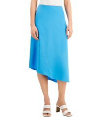 alfani asymmetrical hem midi skirt, created for macy's