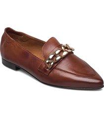 biatracey leather chain loafer loafers låga skor brun bianco