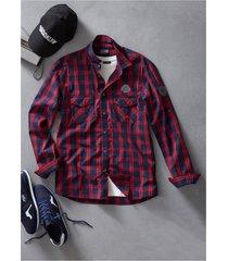 camicia a maniche lunghe slim fit (blu) - rainbow