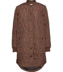 kashally quilted coat kviltad jacka brun kaffe