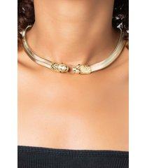 akira my anaconda dont! double snake head chunky necklace