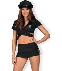 kostium police uniform 4-czesciowy
