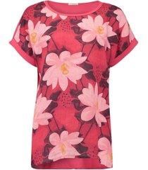 t-shirt summer flower rood