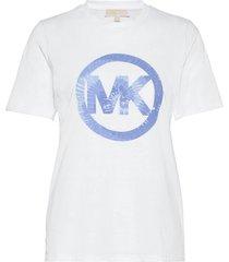 tiedye mk crcl tshirt t-shirts & tops short-sleeved vit michael kors