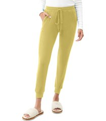 women's michael stars drawstring pull-on pants, size x-large - green