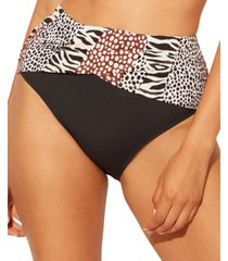 bleu by rod beattie sarong high-waist bikini bottoms women's swimsuit