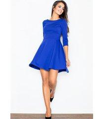 sukienka veronica m081 niebieska