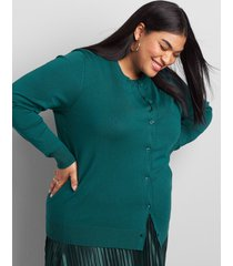 lane bryant women's button-front cardigan 18/20 shaded spruce