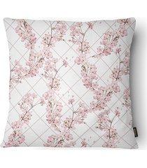 almofada decorativa serenity 082 50x50cm bege e rose